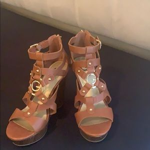 G by GUESS Tan Wedges